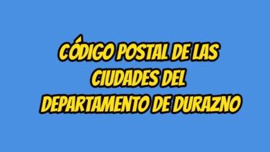Código Postal Departamento de Durazno