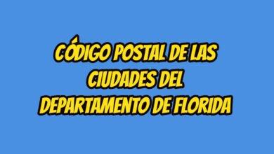 Código Postal de las ciudades del Departamento de Florida