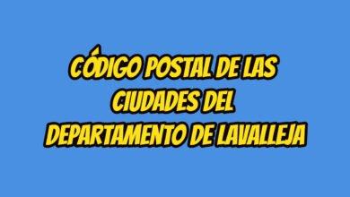 Código Postal de las ciudades del Departamento de Lavalleja