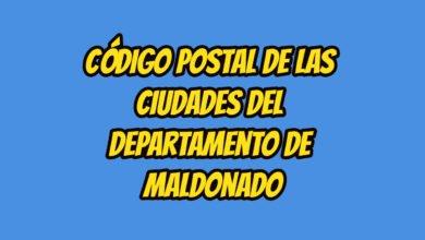 Código Postal de las ciudades del Departamento de Maldonado