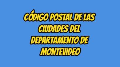 Código Postal de las ciudades del Departamento de Montevideo