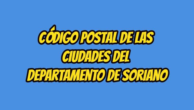 Código Postal de las ciudades del Departamento de Soriano