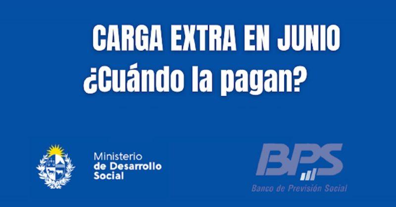 CARGA EXTRA DE JUNIO Cuándo la pagan